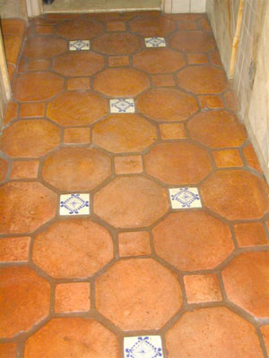 Octogon and Dot - Saltillo Tile